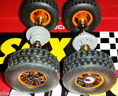 NEW SCX HUMMER H3 SUV 4x4 Wheel Set - Front and Rear Axles with Nubby Tires