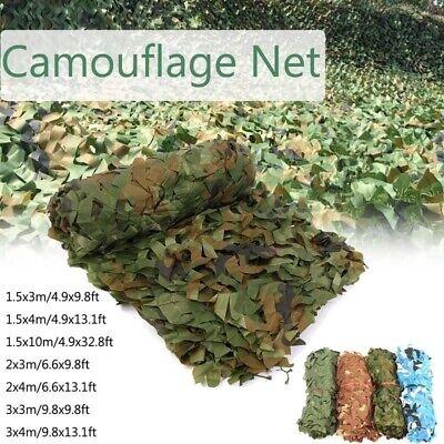 Filet Camouflage Forêt Jungle Camo Net Camping Chasse Cacher Armée Militaire