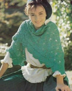 Knitting-Pattern-Lacy-Shawl-Scarf-Accessory-Easy-To-Knit
