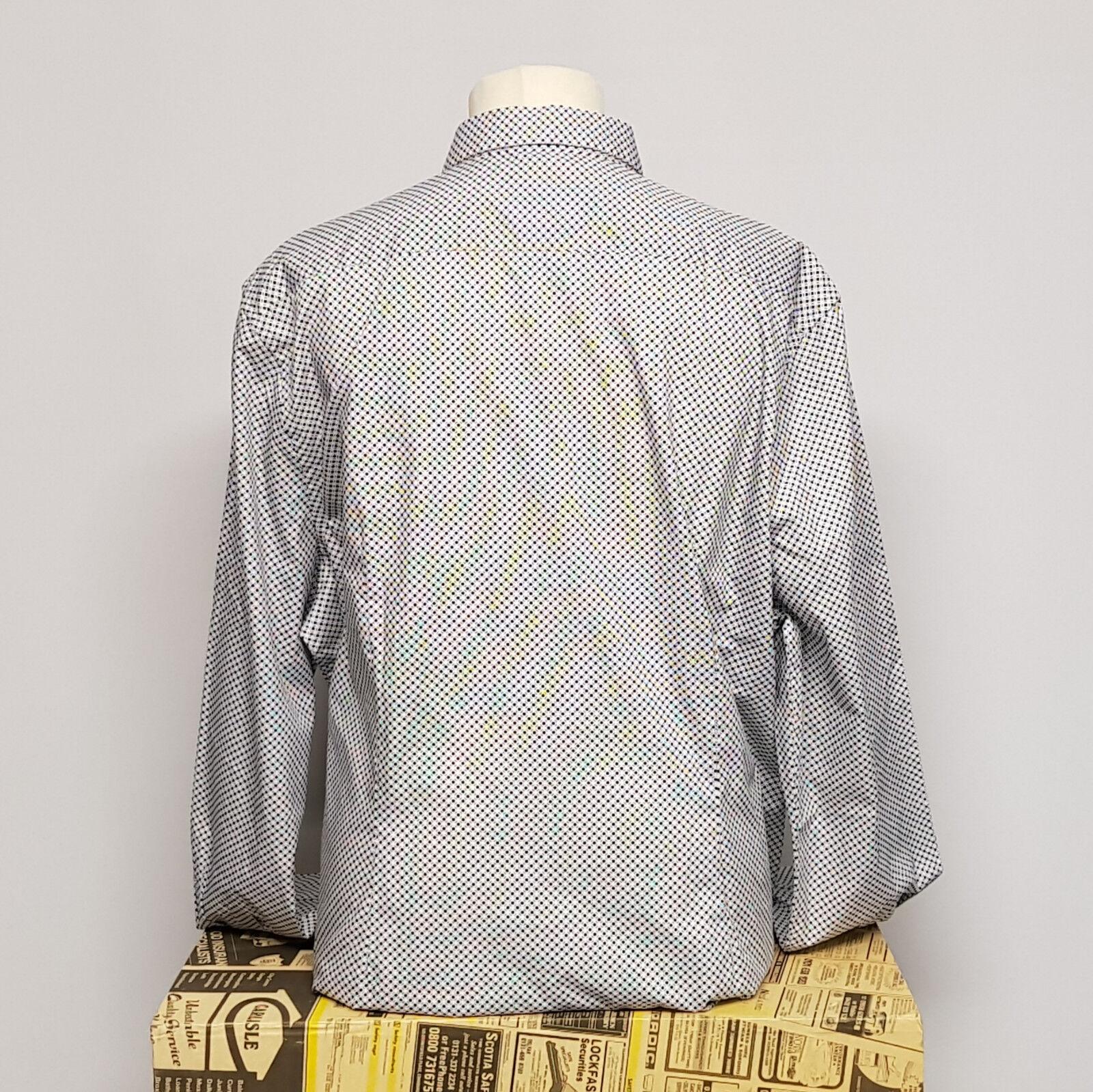 Ben Sherman 1 1 Shirt Slim Fit Soho Dark Dark Dark Navy 0047990 Herrenhemd blau weiß XXL | Haltbar  e6303d