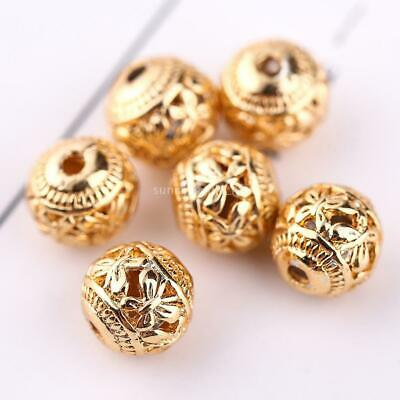 15 New Charms Mixed Round Ball Hollow Spacer Beads 8mm