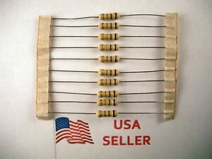 1-2W-5-Watt-5-Tolerance-Carbon-Film-Resistor-10-Pieces-USA-SELLER