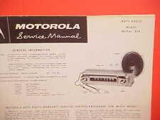 1957 DODGE CORONET CUSTOM ROYAL CONVERTIBLE MOTOROLA AM RADIO SERVICE MANUAL 57