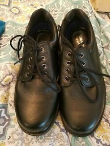 12561ba48fb Details about Dr. Scholl's Careers Men's Work Shoes Size 10W Oil Slip  Resistant Black Lace Up