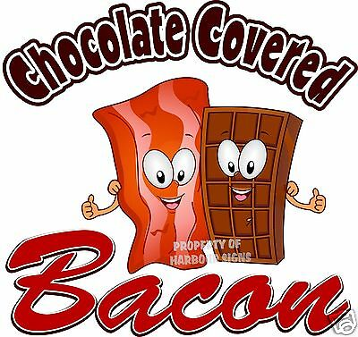 """Chocolate Covered Bacon Concession Trailer Cart Food Truck Restaurant Decal 14"""""""