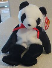 Ty Beanie Baby Fortune Panda Bear 5th Generation Hang Tag  1998 GASPORT ERROR