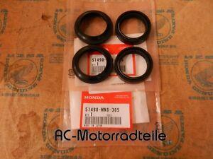Honda-VFR-400-R-NC30-Simmerringe-Simmerring-Gabel-Staubkappen-Vorderradgabel