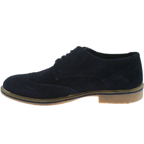 Hommes roamers daim cuir richelieu chaussures taille uk 6-12 casual lace up m617 kd