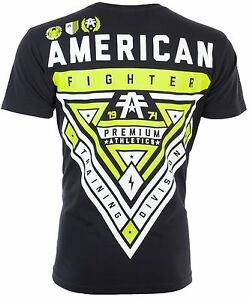 AMERICAN-FIGHTER-Mens-T-Shirt-CAMERON-WEATHERED-Athletic-BLACK-Biker-Gym-40