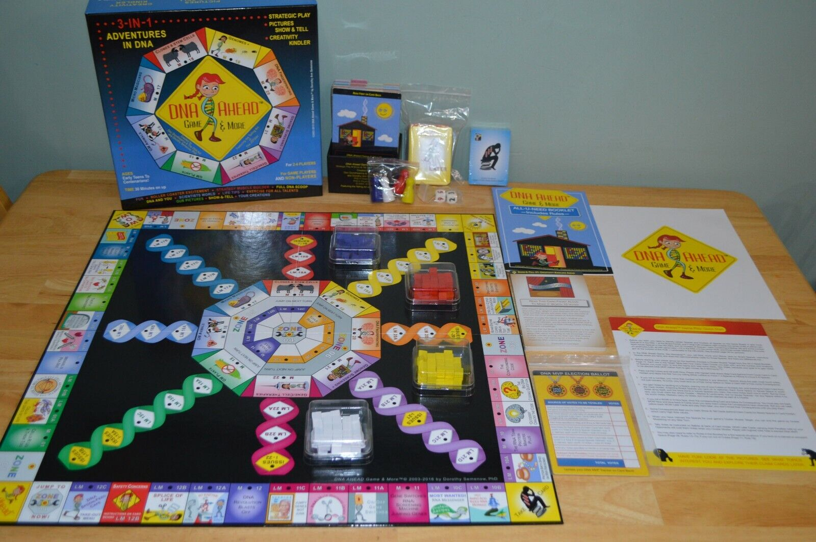 New Open Box DNA Ahead Game & More Board Game by Dgoldthy Semenow