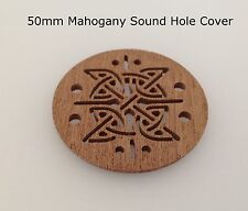Cigar Box Guitar Sound Hole Covers Mahogany 50mm