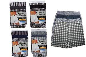 12-Pairs-Men-039-s-Boxer-Shorts-Underwear-Check-Plain-Stripe-Cotton-Boxers-S-XL-XXL