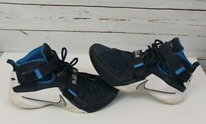 5506802df02 Nike LeBron Soldier IX Men s Basketball Shoes 749498-402 Blue SZ US ...