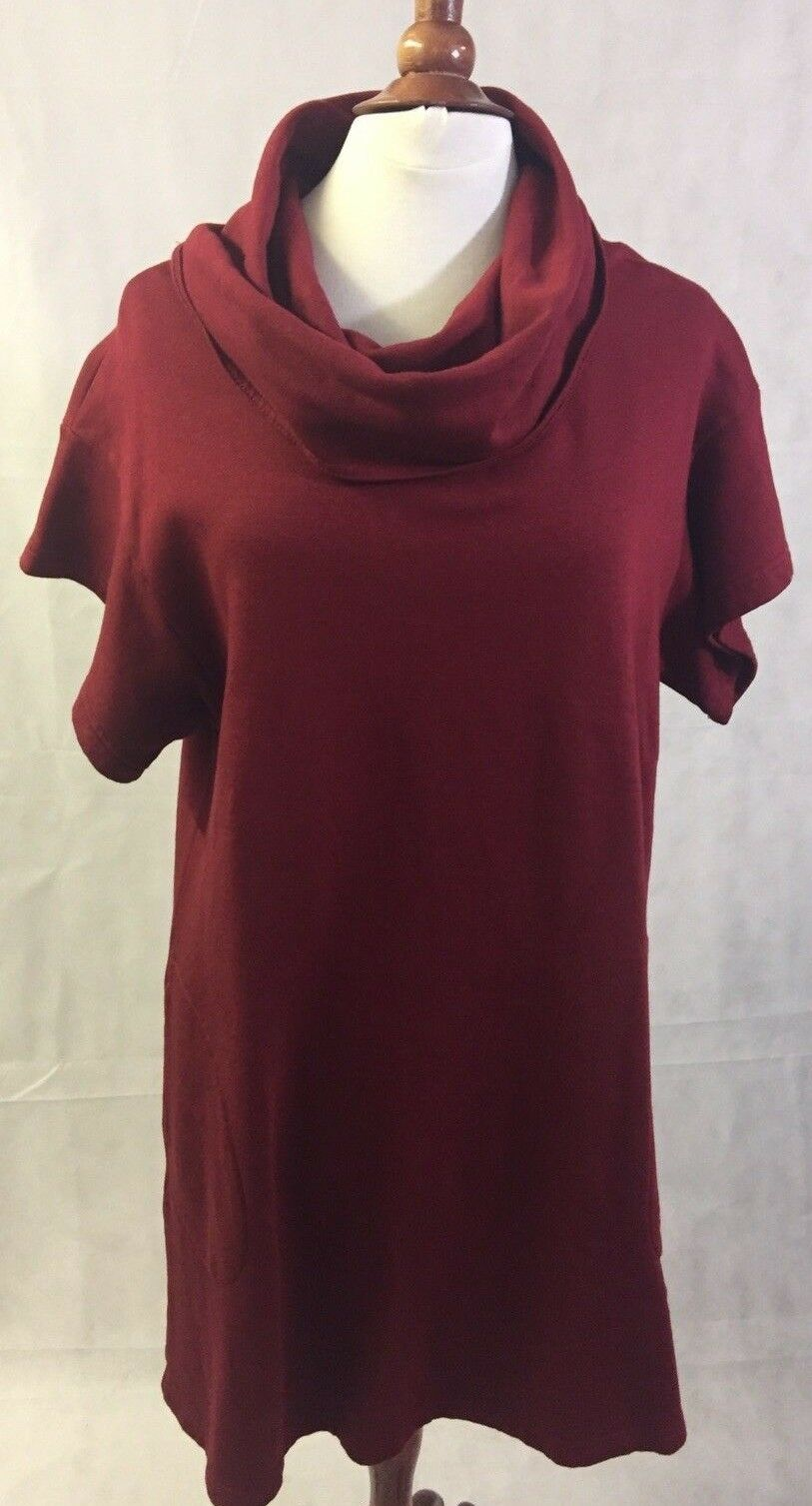 New rot Wine Maroon Bryn Walker Dress With Pockets Größe Small 2 4 Boat Neck NWT