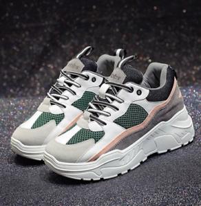 check-out bcf4b d30ab Détails sur Baskets sneakers plateforme compensées épaisses no name femme  dad shoes pas cher