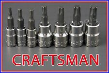 CRAFTSMAN HAND TOOLS 7pc 1/4 3/8 dr Torx / Star bit ratchet wrench socket set