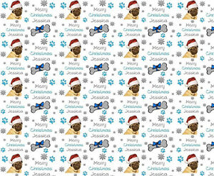 personalised christmas wrapping paper pug dog wrapping paper ebay