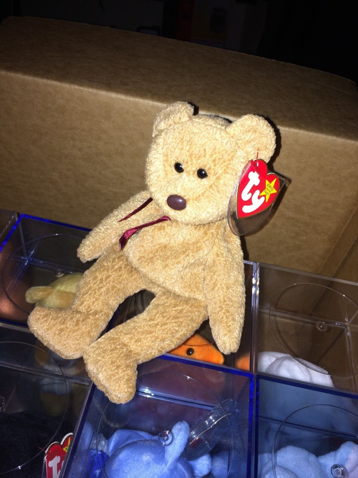 Beanie Baby  Curly  the Bear, Rare and Retired, MWMT