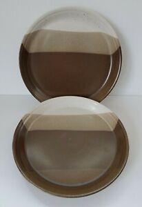 Mikasa  Potter's Art Dinner Studio Kiln Dinner Plates, set of two (2), 1970s