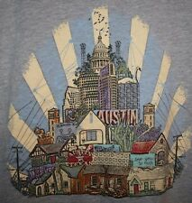 NEW Mens Google Fiber Austin Texas Keep TX ATX Weird Wired T-Shirt SLIM LARGE