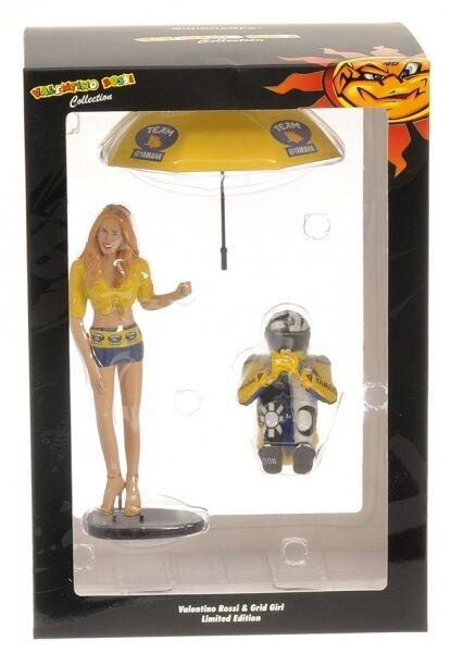 Valentino Rossi Pilota  Figure & Ombrellina Girl MotoGP 2006 1 12 Model  vente en ligne