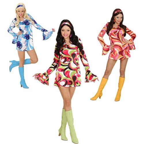 70er JAHRE HIPPIEKOSTÜM Damen Hippie Kostüm Hippiekleid Hippie Party Kleid S-M-L