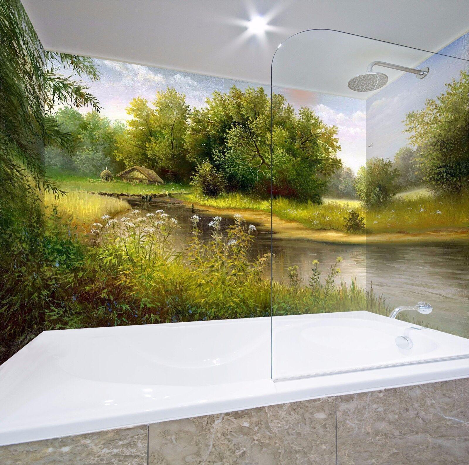 3D Tree Oil Painting 46 WallPaper Bathroom Print Decal Wall Deco AJ WALLPAPER UK