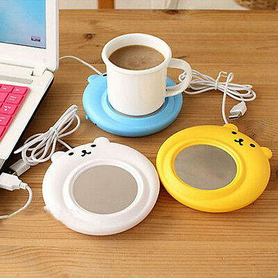 Lovely bear USB Portable Powered Cup Mug Warmer Coffee Tea Drink Heater Tray Pad