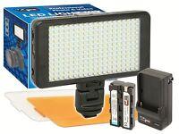 Led-230 Video Light 228 Led Kit + Battery For Digital Camera & Video Camcorder