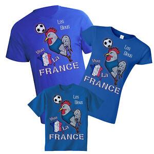 6c97562b87c France World Cup 2018 Football Mascot T-Shirt Choice Of MENS LADIES ...