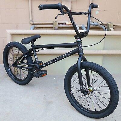 "2019 WE THE PEOPLE BMX BIKE ARCADE 20/"" MATTE BLACK BICYCLE KINK FIT CULT"