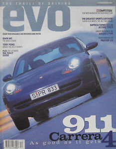 EVO-12-1998-Issue-2-featuring-BMW-M5-Panther-Six-Porsche-TVR-Audi-MG-6R4