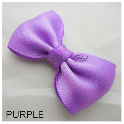 "-Pkt 6-Wedding Bows 13//4/""inches Handmade-4.5cm Satin Ribbon Mini Bow Tie"