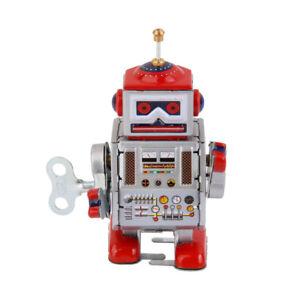 Retro-Robot-MS406-Retro-Clockwork-Wind-Up-Tin-Toy-w-Box-Collectible-Gift