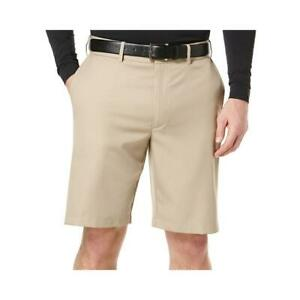 NWT Men/'s PGA TOUR Chinchilla Khaki Flat Front Casual Shorts Size 40