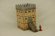 DESERT FORT STRAIGHT WALL Building 28mm MDF Sarissa Precision G117