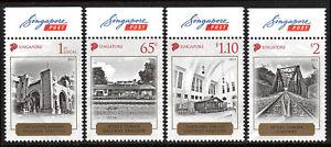 Singapore 1593-1596, MNH. History of singapore Railroads, 2013