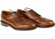 J.Crew Men's Ludlow Wing Tips 12 D Style 09494 $318 English Tan Dress Shoes Def