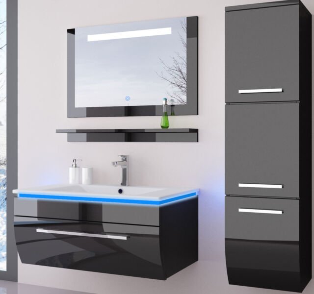 badmobel schwarz, badmöbel collection on ebay!, Design ideen