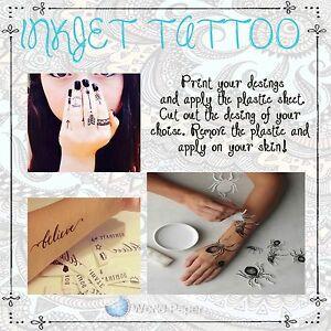 Details Zu Waterslide Temporary Tattoo Paper Print You Own Tattoo
