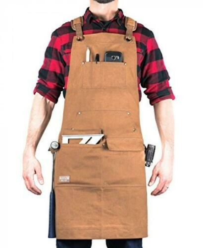 Hudson Durable Goods Woodworking Edition Waxed Canvas Apron Brown Padde XXL