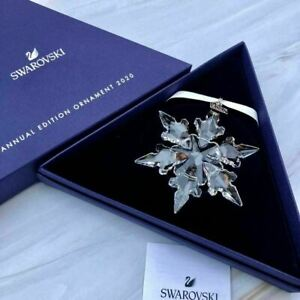 Crystal Large Annual Edition Christmas Ornament 2020 Snowflake clear Car Pendant