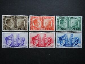ITALY Nazi 1941 Stamps MNH Benito Mussolini Adolf Hitler Third Reich WWII
