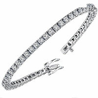 Arrival 14.5ct Round Russian Cz Tennis Bracelet .925 Sterling Silver 7.5 on sale