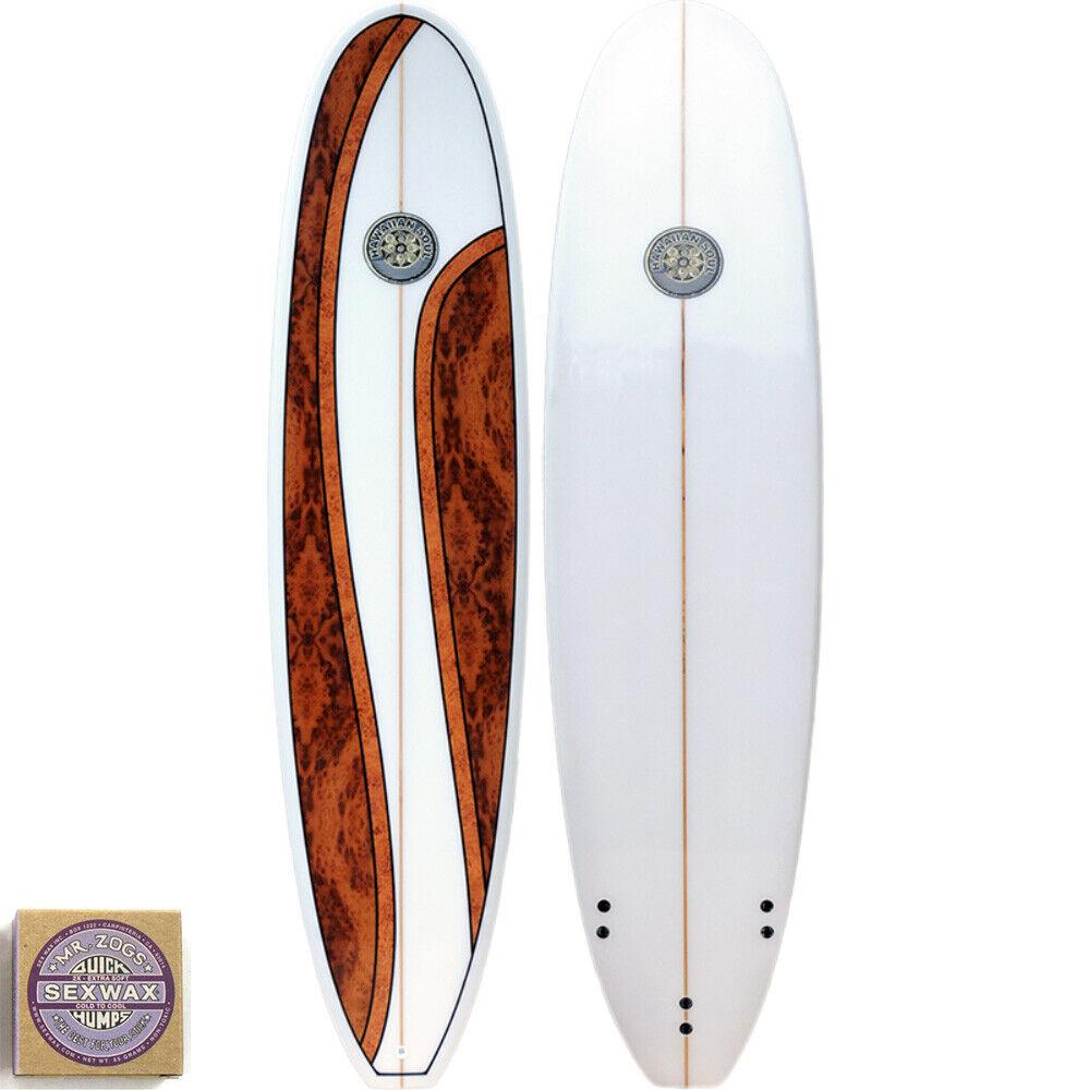 Hawaiian Soul Longboard 9'0 - Beginner to Advanced - Wax and Fins Included.