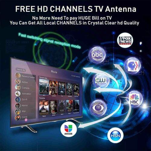 DIGITAL TV ANTENNA 320 MILE RANGE 1080P SIGNAL BOOSTER AMPLIFIER HDTV INDOOR