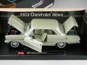 CHEVROLET NOVA COUPE 1963 AUTUMN HERBST GOLD SUNSTAR 3967 1/18 METAL USA CAR