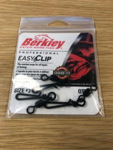 Abu Berkley Easy Clip Snaps Taille #3 - Qté 3-Prédateur Leurre De Pêche