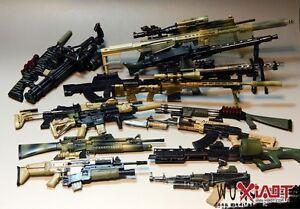 Details about 1:6 GUN HK416 MSR DSR MG42 PUBG PSG-1 SVD AK47 AK74 QBZ95  M134 M16 battlefield5