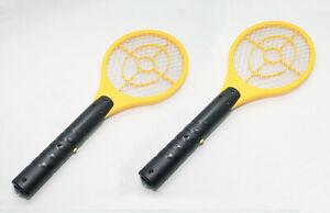 2x électronique D'insectes Volants électrique Moustique Swat Swatter Guêpe Zapper Tueur-afficher Le Titre D'origine